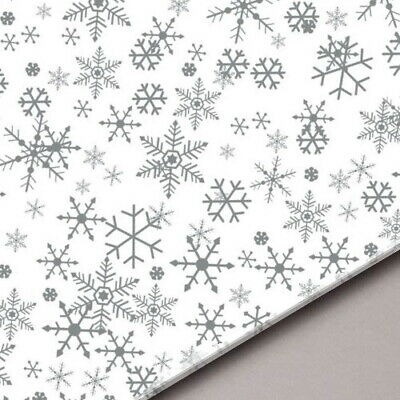 Xmas Snowflake Acid Free Tissue Paper Sheets ideal for Gifts Hampers - 18gsm