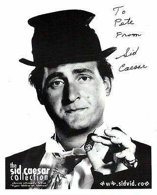 Sid Caesar signed 8x10 Your Show of Shows promo photo / autograph