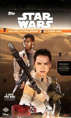 Topps Star Wars Force Awakens Series 2 Factory Sealed 12 Box HOBBY CASE-24 HITS