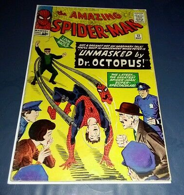 Marvel amazing spider-man 12 1964 doctor octopus Jonah Jameson identity reveal