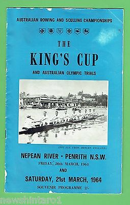 #d270.  1964  The  King's Cup  Rowing &  Sculling  Program