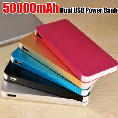 Slim Charger Power Bank 50000mah Charging Dual USB Battery for Mobile Phones AU