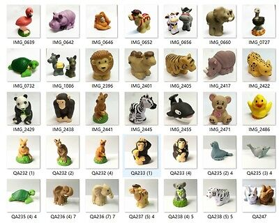 Random 10x  Fisher-Price Little People Zoo Talkers Animal figure Toy - no sound