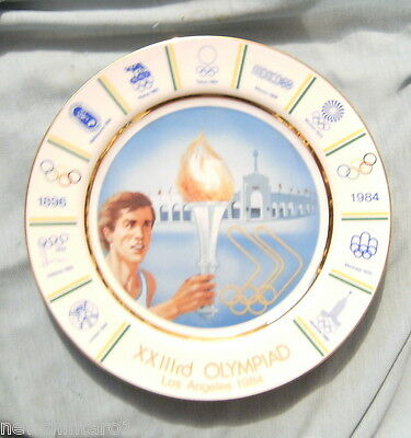 #aa6. 1984  Los  Angeles Olympic Souvenir China Plate, Australian