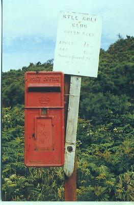 British Postbox Series #29 Lamp Box, Kyle Golf Club, Ross-shire 1991 postcard