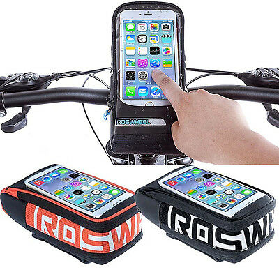 """ROSWHEEL Bike Bicycle Cycling Touch Screen Handlebar Pouch Bag Case 5.7"""" Phone"""