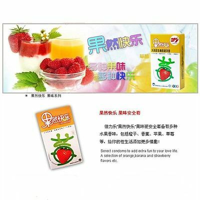 10 Pcs strawberry flavor Condoms Latex Double Lubricated Free shipping make love