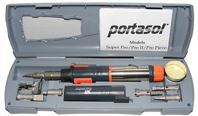 Portasol Super Pro 125 Mk2 Cordless Gas Soldering Iron Full Kit  Sp-1K+Extras