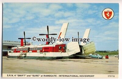 f0894 - SRN4 Hovercraft - Swift or Sure at Ramsgate - postcard