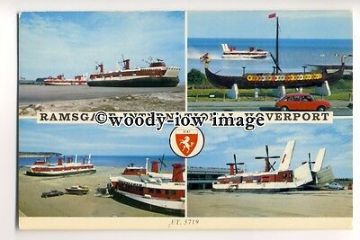 f0929 - Hoverlloyd SRN4 Hovercraft - Swift & Sure at Ramsgate - postcard