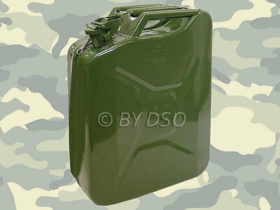 Professional Trade Quality 20 Litre Jerry can Metal in Green