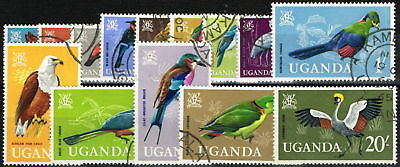 Uganda 1965 Birds set of 14 SG113-126 Superb Used