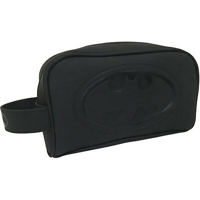 Batman - Embossed Logo Toiletries / Wash Bag - New & Official DC Comics With Tag