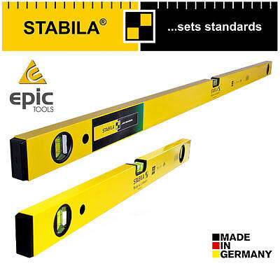 "STABILA 70-2 Heavy Duty 3 Vials 120cm/4'/48"" & 60cm/24""/2ft Beam Spirit Level"