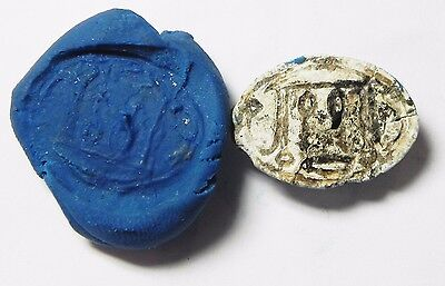 Zurqieh -Af522- Ancient Egypt , New Kingdom Stone Scarab. 1400 B.c