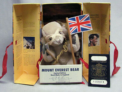 Merrythought Mount Everest Anniv. Bear Edmund Hillary England Signed & Numbered