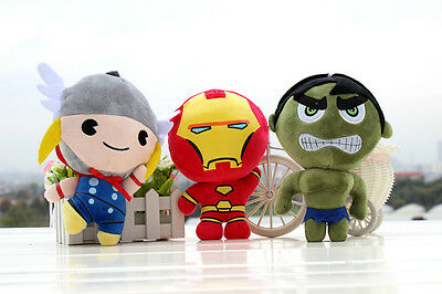 8'' Marvel The Avengers Super Heroes Plush Toys Soft Stuffed Doll Xmas Gifts