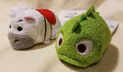 "Disney Tsum Pascal  + Maximus the Horse from Tangled 3"" Plush Toys - NEW"
