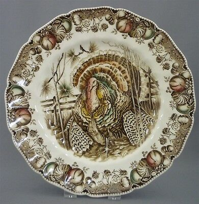 """Johnson Brothers England """"HIS MAJESTY"""" 10.75"""" Thanksgiving Turkey Dinner Plate s"""