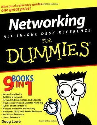 Networking All-in-One Desk Reference For Dummies by Lowe, Doug Paperback Book