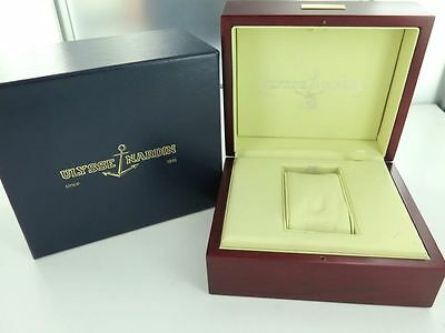 .ulysse Nardin Vintage Collectable Watch Display Box & Outer.