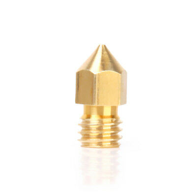0.4mm Copper Extruder Nozzle Print Head for Makerbot MK8 3D Printer Gold