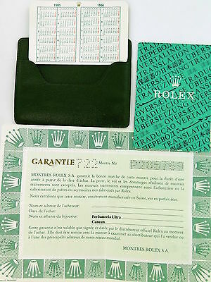 .rolex 1990'S 14060 Submariner Watch Guarantee, Wallet Etc Obsolete/ Collectable