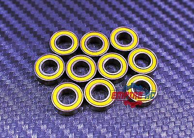 [10Pcs] MR148-2RS (8x14x4 mm) Rubber Ball Bearing Bearings YELLOW 8*14*4 MR148RS