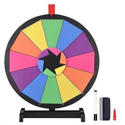 "WinSpin™ 18"" Tabletop Color Prize Wheel of Fortune 12 Slot Spin Game Tradeshow"