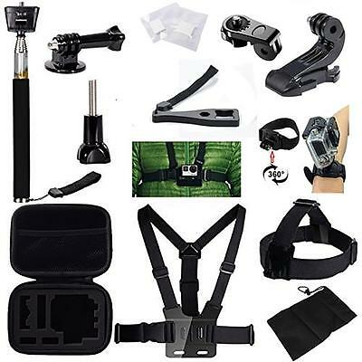 23-in-1 Sport Accessory Kit Cycling Camping For GoPro Hero 4 3+ 3 2 1 Camera DV