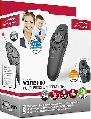SPEEDLINK ACUTE PRO Multi-Function Presenter, black SL-6199-BK-01