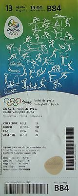 TICKET A 13.8.2016 Olympia Rio Beachvolleyball # B84
