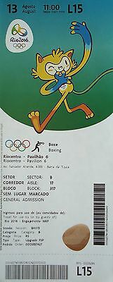 mint TICKET M 13.8.2016 Olympia Rio Olympic Games Boxen Boxing # L15