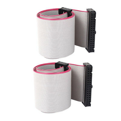 2pcs 2.54mm 34-Pin Female to Female IDE PATA Extension Flat Ribbon Cable 50cm