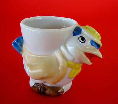 Sweet Vintage Made in Japan Novelty Ceramic Egg Cup - Hen Chicken Rooster