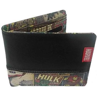 Marvel Comics - Comic Book Zip Bi Fold Wallet - New & Official With Coin Pocket
