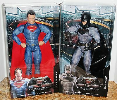 BATMAN vs SUPERMAN 2 COLLECTOR DOLLS/MATTEL/MINT/USA FREE SHIPPING/AGE 14+