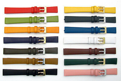 Fine Calf Leather Watch Band Strap Choice of Colors 8mm 10mm 12mm 14mm