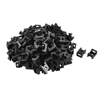 Plastic Saddle Type Cable Tie Base Mount Wire Holder 23 x 25 x 10mm 120pcs