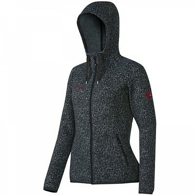 Mammut Kira Tour ML Hooded Jacket Damen Fleecejacke in Strickoptik graphite