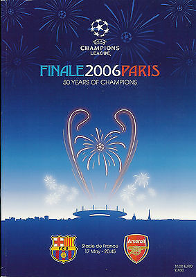 Barcelona v Arsenal European (Champion Clubs) Cup Final 2006 FOOTBALL PROGRAMME