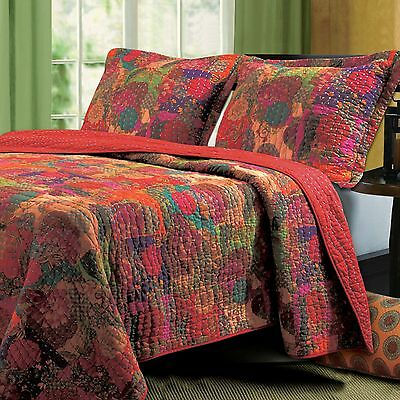 Greenland Home Fashions Jewel Reversible Quilt Set