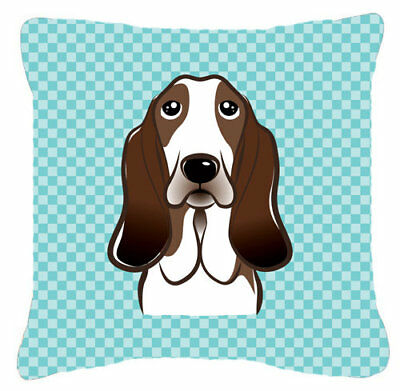 Caroline's Treasures Checkerboard Basset Hound Indoor/Outdoor Throw Pillow