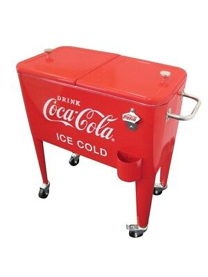 Leigh Country 60 Qt. Coca-Cola Ice Cold Heavy Duty Rolling Cooler