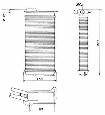 NRF Interior Heating Heat Exchanger 58608 Fit with FORD ESCORT