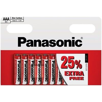 PACK OF 10 x PANASONIC 1.5V AAA SIZE ZINC CARBON BATTERIES EXPIRY DATE 02/2019