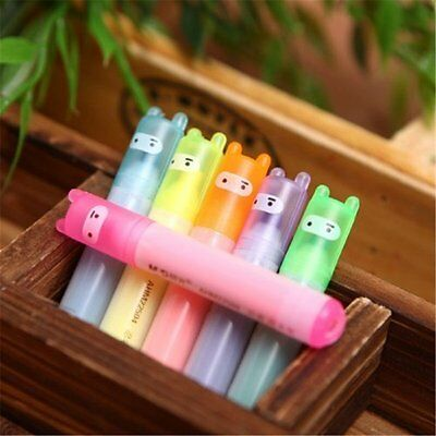 6 Colors Cute Kawaii Ninja Initiative Highlighter Pens Novelty Gift Stationery