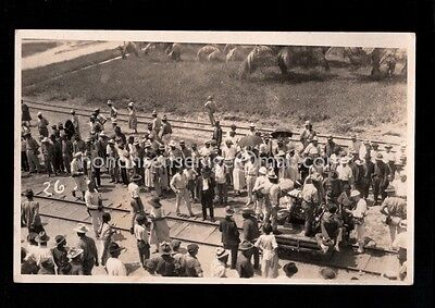 Honduras Unlocated Selling From A Railroad Cart Real Photo Postcard E20C H12