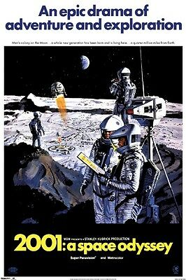 2001 A SPACE ODYSSEY ~ MOON COLONY 24x36 MOVIE POSTER Stanley Kubrick