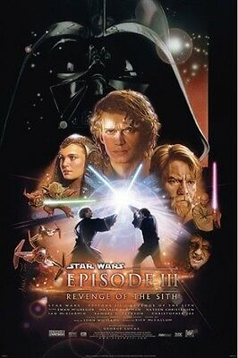 REVENGE OF THE SITH ~ REGULAR 24x36 MOVIE POSTER Star Wars Episode II 2 Struzan